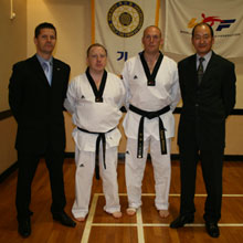 Mark Lemon and Adrian Williams achieve new Dan Grades in Grangemouth Scotland Grading