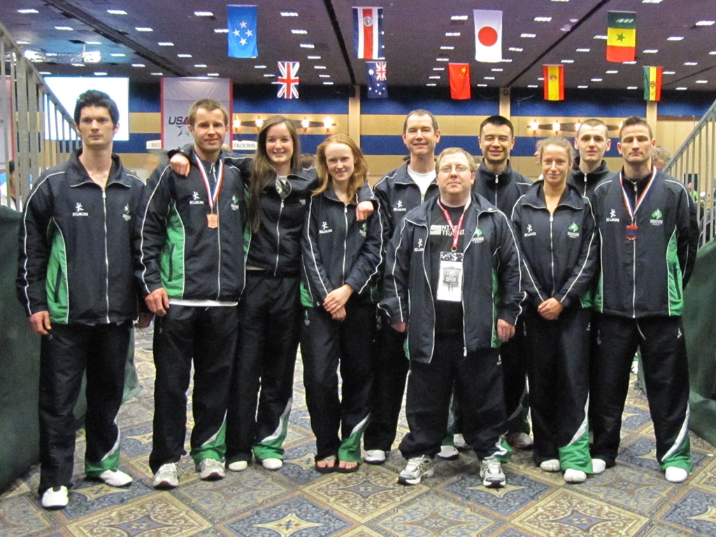 Group Photo from the US Open in Las Vegas where the 2nd male team returned with Bronze