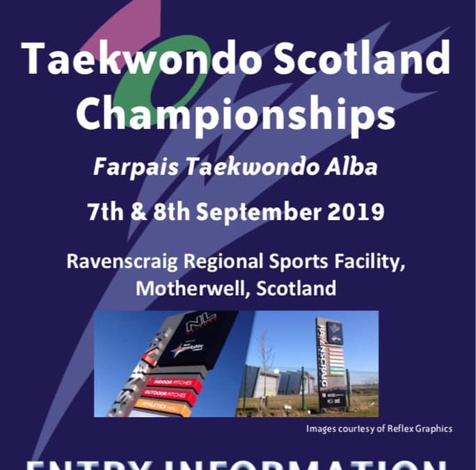 Competition: Taekwondo Scotland Championships – 7 Sept 2019