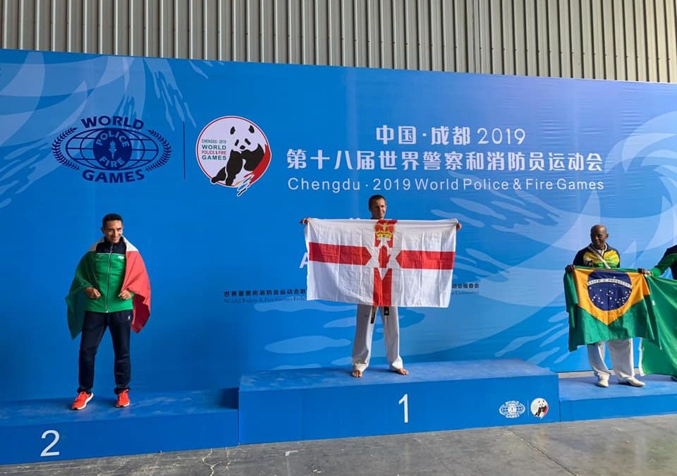 Gold for Master Stewart at the World Police & Fire Games in China