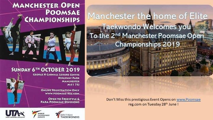 Competition: Manchester Poomsae Open – 6 Oct 2019